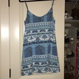 MUMU blue print dress